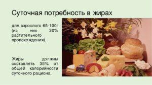 Умеренное потребление жиров